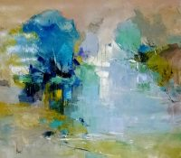 abstract lake landscape