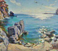 cliffs, beach and water