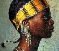 bassari woman in traditional head dress