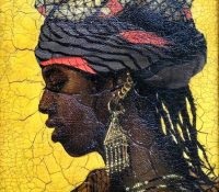 Chad woman in traditional head dress