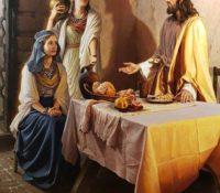 Jesus visiting Mary and Martha