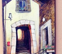 Nodar Khokhobashvili Little Street Light 60 x 18 - Copy