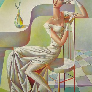 Georgy Kurasov White Roses 40 x 32