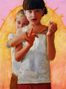 Masha holds the Daisy No.1 (40x30) copy