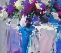 white purple abstract lilacs