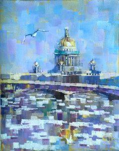 Konstantin Suhopluyev Winter Mosaic 20x16