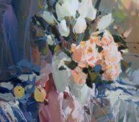 white tulip stillife