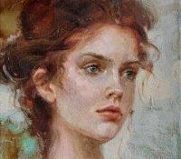 red headed girl blue eyes