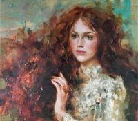 red head girl with long hair